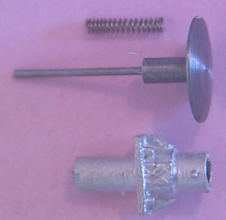 Oleo buffers, short, sprung, for air braked stock, 18in diameter head, 1.45mm shank (ABWC018S)