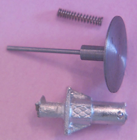 Oleo buffers, long, sprung, for air braked stock, 22in diameter head, 1.45mm shank (ABWC022L)