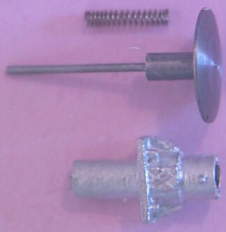 Oleo buffers, short, sprung, for air braked stock, 22in diameter head, 1.45mm shank (ABWC022S)
