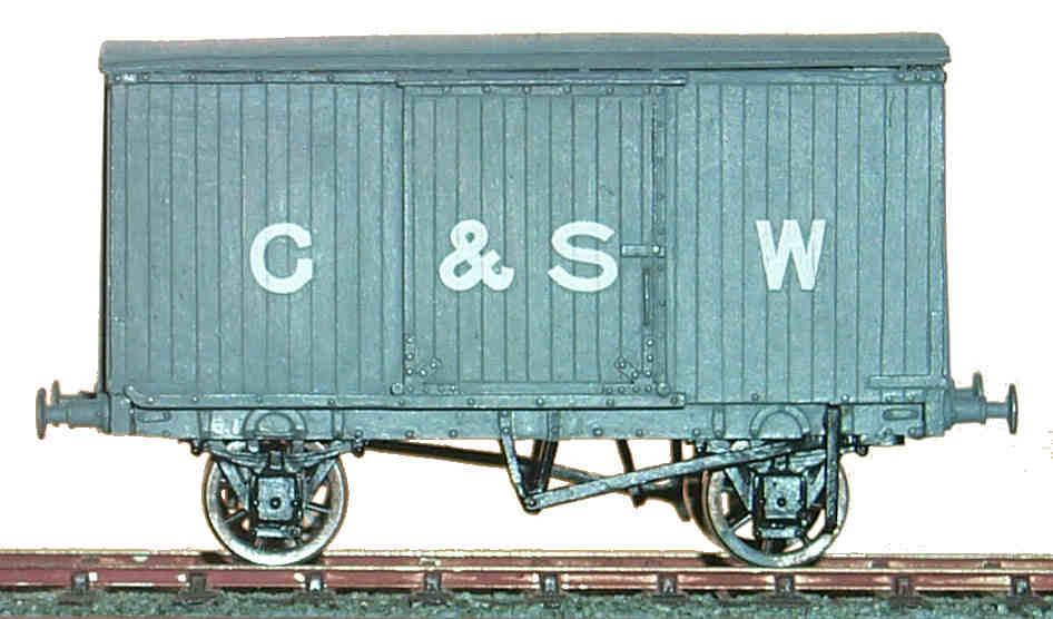 GSWR diagram 28 10T goods van (GSWD028)