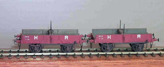 HR diagram 36 twin timber wagon (contains a pair of wagons) (HRD036)