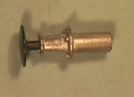 MR four-bolt wagon buffers with blackened steel heads (MRC020)