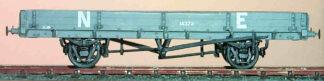 NER diagram B12 12T plate wagon (NERDB012)