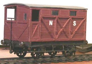 North Staffordshire diagram 20 20T goods break (brake) van (NSRD020)