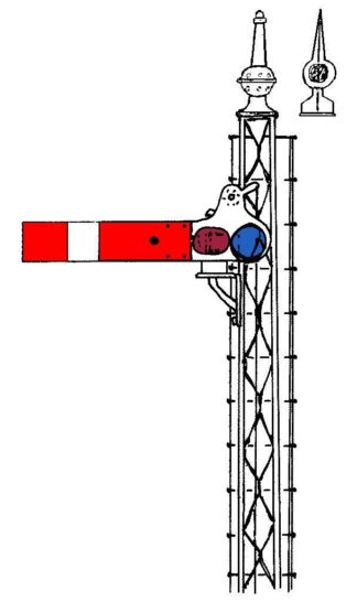 LNER (ex-NBR area) lattice post upper quadrant signal kit (S7/KE2)